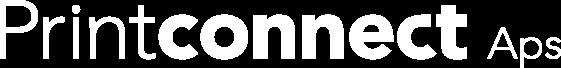 Printconnect logo hvid